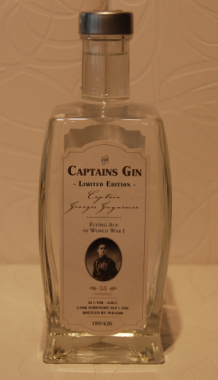 "Captains gin LIMITED EDITION Georges Guynemer 53% 0.5L. ( SLECHTS 420 FLESSEN ) ""HOME MADE""!!"