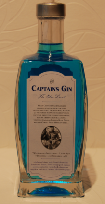 "Captains gin LIMITED EDITION 'The Blue Devil' 47% 0.5L. ( SLECHTS 520 FLESSEN ) ""HOME MADE""!!"