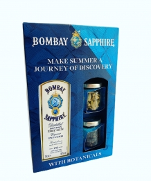 Bombay Sapphire gin 40% 70cl + Botanicals in giftset