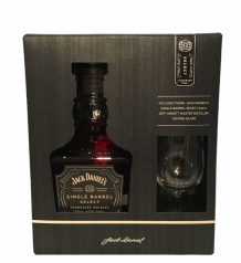 Jack Daniels single barrel select whisky + glas in giftbox 45% 70cl