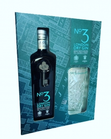 N°3 London Dry Gin giftbox 46° 70 Cl