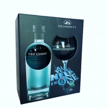 London N°1 gin +  glas in giftbox 47% 70cl