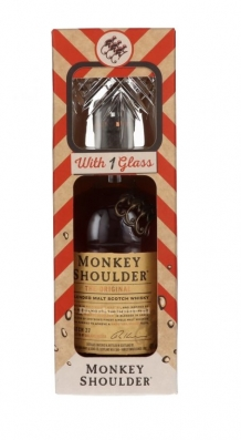 Monkey Shoulder whisky in giftbox + glas 40% 70cl