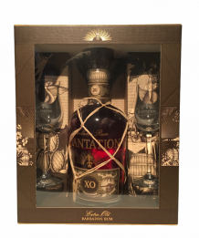 Barbados Rum Plantation XO 20TH anniversary giftbox + 2 glazen 40% 70cl